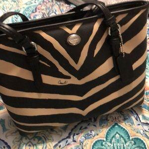 Coach Zebra Print Handbag